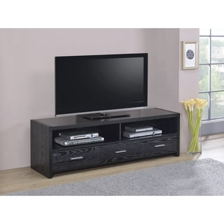 Black 3-Drawer TV Console