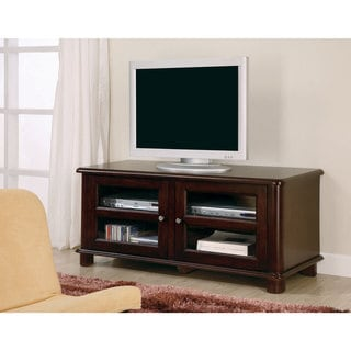 Coaster Company Cherry Finish Glass Doors TV Console