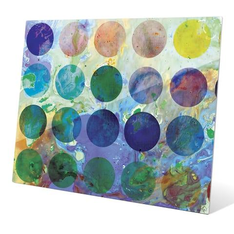 Artist Palette Graphic on Glass