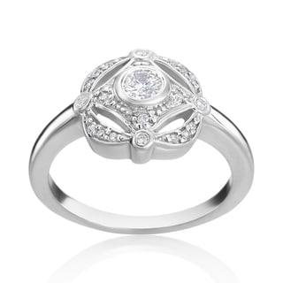 Andrew Charles 14k White Gold 1/3ct TDW Diamond Antique Ring