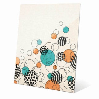 Rising Orange and Teal Bubbles Graphic on Acrylic