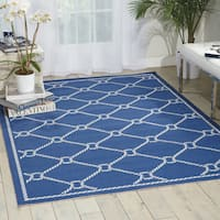 Waverly Sun N' Shade Rope Navy Indoor/ Outdoor Area Rug by Nourison - 5'3 x 7'5