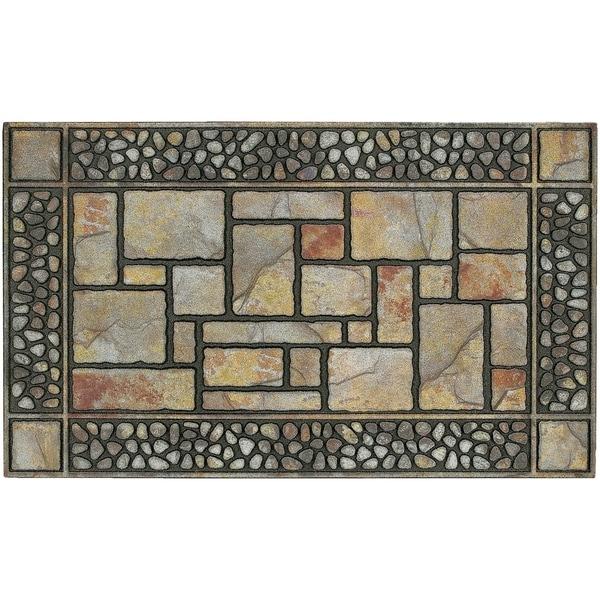 """Mohawk Home Doorscapes Manor Patio Stones Doormat (1'7.5 x 3'11) - 1'7.5"""" x 3'11"""""""
