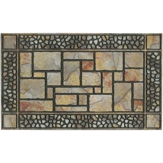 "Mohawk Home Doorscapes Manor Patio Stones Doormat (1'7.5 x 3'11) - 1'7.5"" x 3'11"""
