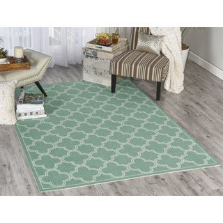 Waverly Sun N' Shade Emerald Area Rug (5'3 x 7'5) by Nourison
