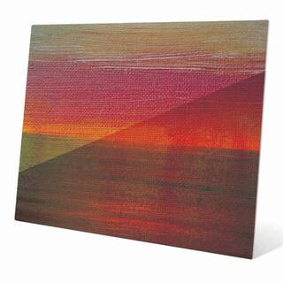 Fern and Vermillion Horizon Graphic on Acrylic