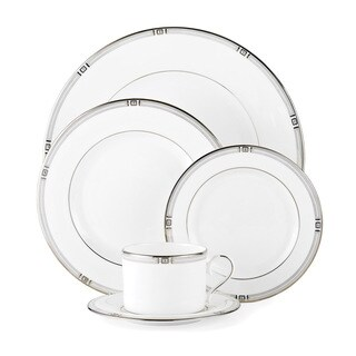 Lenox Westerly White China 5-piece Place Setting with Platinum Banding