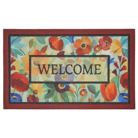 "Mohawk Home Doorscapes Stain Glass Flowers (1'6 x 2'6) - 1'6"" x 2'6"""