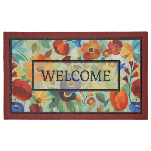 """Mohawk Home Doorscapes Stain Glass Flowers (1'6 x 2'6) - 1'6"""" x 2'6"""""""