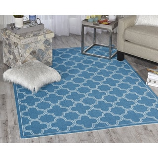 Waverly Sun N' Shade Azure Area Rug (5'3 x 7'5) by Nourison