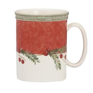Holiday Wreath Stoneware 14-ounce Mug