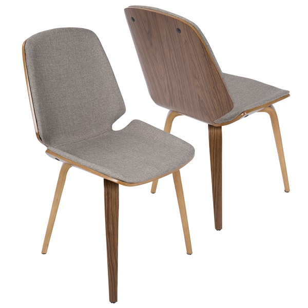 serena walnut midcentury modern dining chairs set of 2