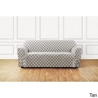 Sure Fit Buffalo Check Sofa Slipcover (Brown)