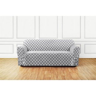 Sure Fit Buffalo Check Sofa Slipcover (Grey)