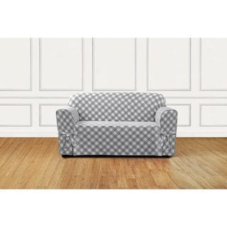 Sure Fit Buffalo Check Loveseat Slipcover