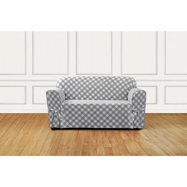 Sure Fit Buffalo Check Loveseat Slipcover Free Shipping
