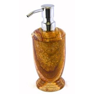 Nature Home Decor Atlantic Multi Brown Onyx Liquid Soap Dispenser