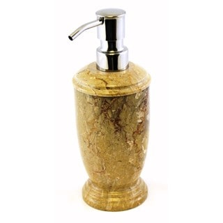 Nature Home Decor Atlantic Collection Sahara Beige Marble Lotion / Liquid Soap Dispenser