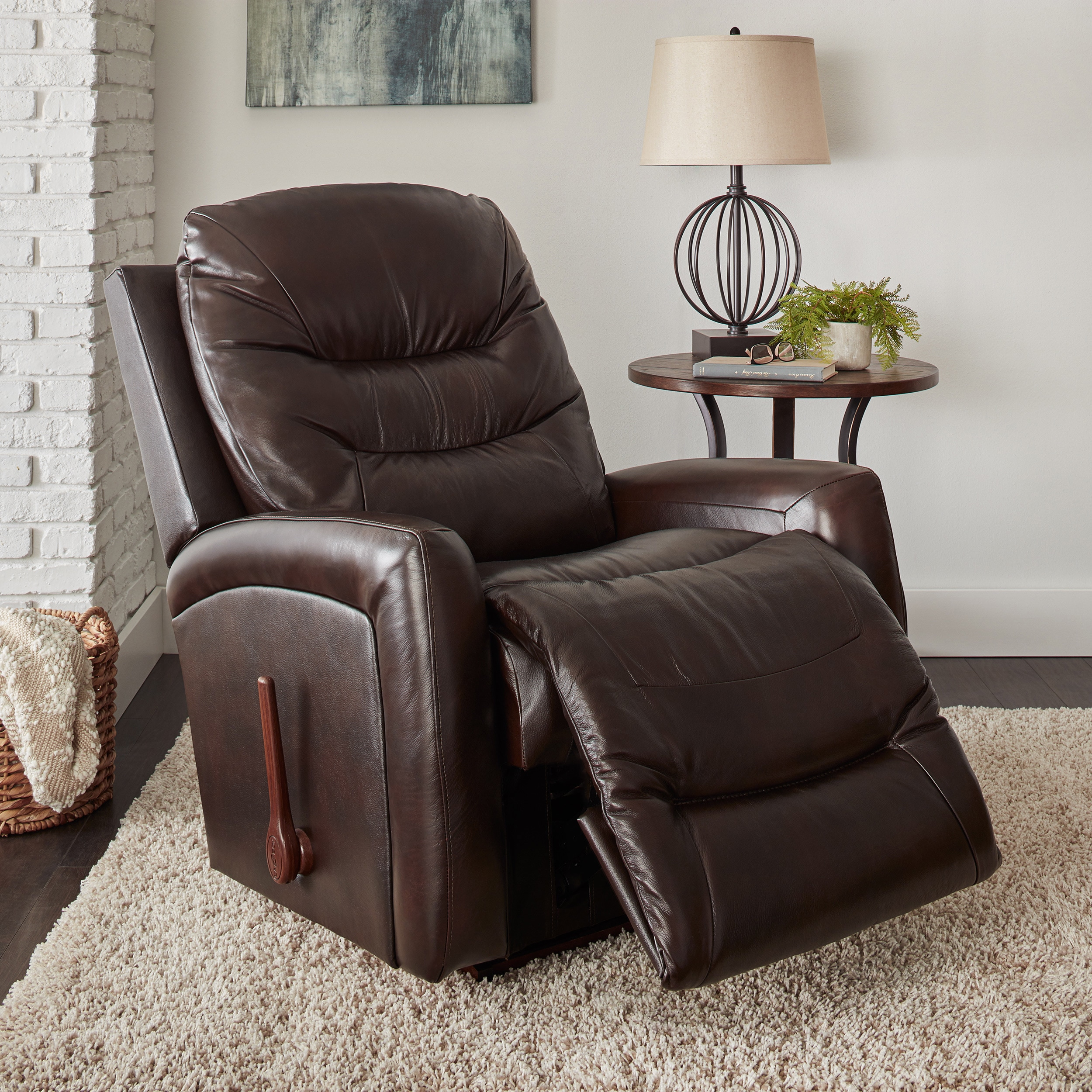 Picture of: La Z Boy Shane Brown Leather Recliner Overstock 12193447