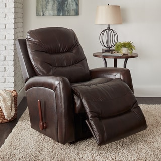 La Z Boy Shane Brown Leather Recliner