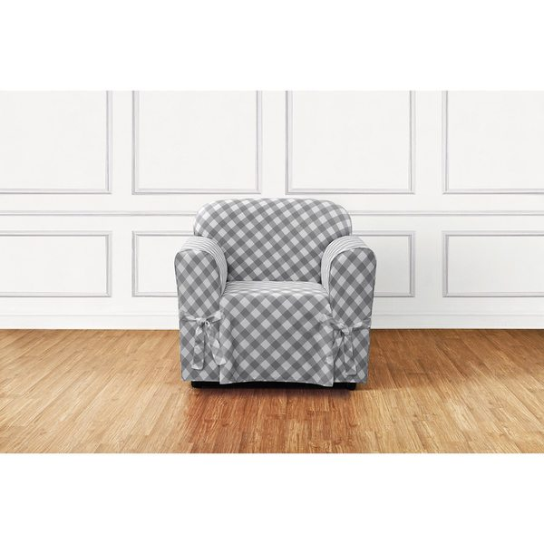 Sure Fit Buffalo Check Chair Slipcover Free Shipping On