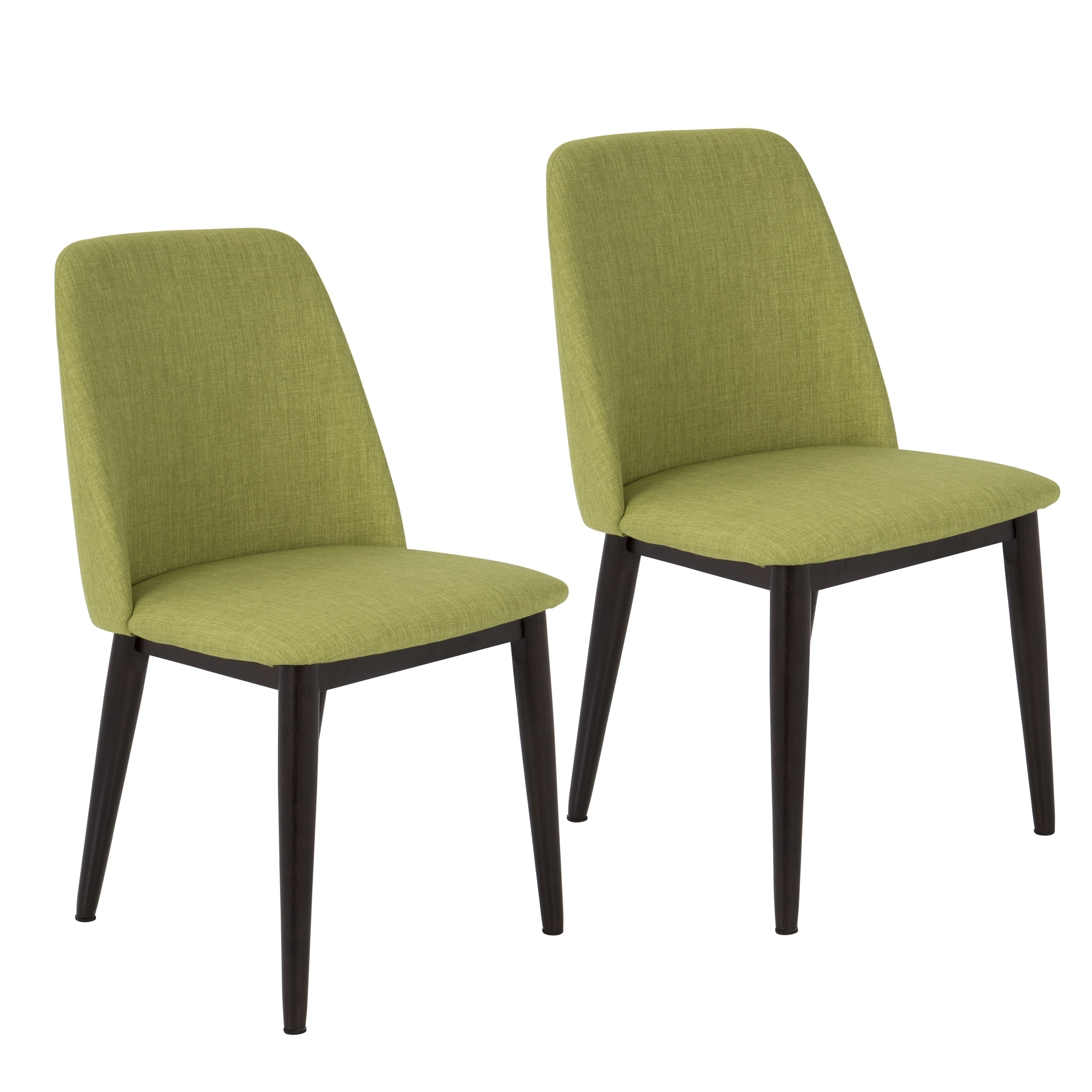 Tintori fabric upholstered mid century style dining chairs set of 2