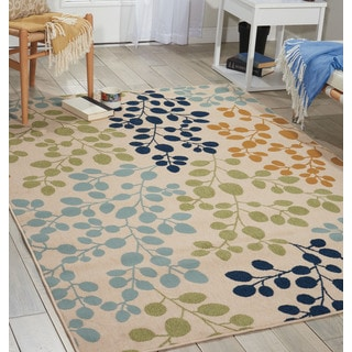 Nourison Caribbean Ivory Area Rug (2'6 x 4')