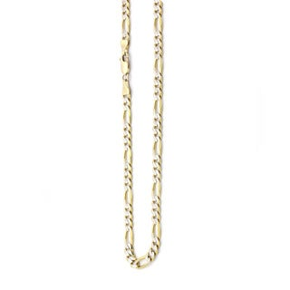 Decadence 14k Two-tone Gold 7.80-millimeter Figaro Pave 180 Lite Chain