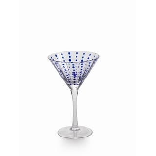 Blue Dots Martini Glass set