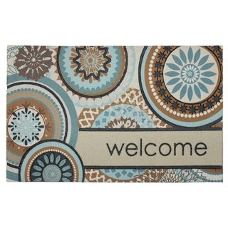 "Mohawk Home Doorscapes Floral Mi x Welcome (1'6"" x 2'6"")"