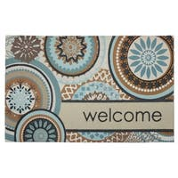 Mohawk Home Doorscapes Floral Mix Welcome Doormat (1'6 x 2'6)