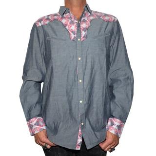 Rock Roll N Soul Men's Casual Western Button-up Fashion Shirt