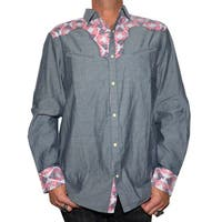 Men's 'Fly on the Side' Long Sleeve Western Button Up Fashion Shirt by Rock Roll n Soul