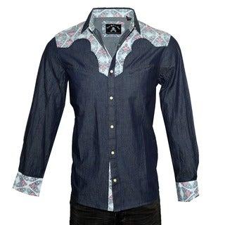 Rock Roll N Soul Men's Western Casual Button-up Fashion Shirt