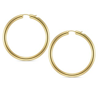 Forever Last 14k Round Polished Hoop Earrings