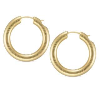 Forever Last 14k Round Polished Hoop Earrings