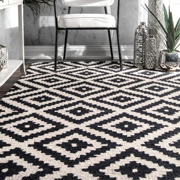 Shop Nuloom Handmade Wool Abstract Fancy Pixel Trellis