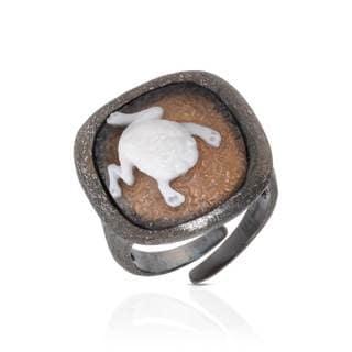 Tagliamonte Sterling Silver Cameo Ring (Size 8.5)