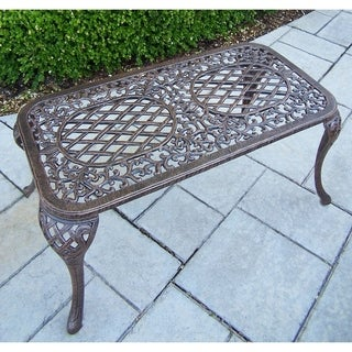 Outdoor Bronze Finished Cast Aluminum Coffee Table