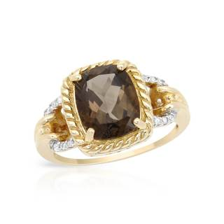 Magnolia 10k Gold 2 7/8ct TW Topaz Ring (Size 6)