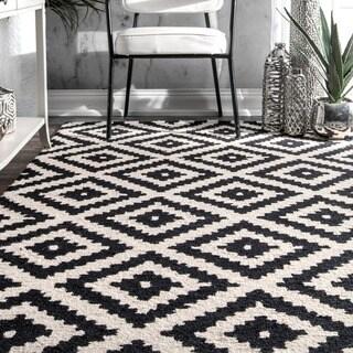 nuLOOM Handmade Abstract Wool Fancy Pixel Trellis Rug (9' x 12')|https://ak1.ostkcdn.com/images/products/12193886/P19042295.jpg?_ostk_perf_=percv&impolicy=medium