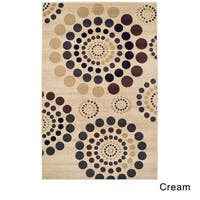 Superior Modern City Circles Area Rug Collection (5' x 8')