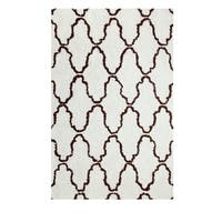 Superior Trellis Collection Hand Woven and Soft Shag Rug (5'x8')