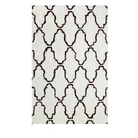 Superior Trellis Collection Hand Woven and Soft Shag Rug (8'x10') - 8' x 10'