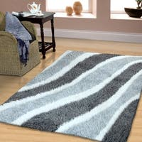 Superior Waverling Collection Hand Woven and Soft Shag Rug