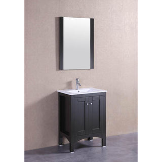 "24"" Espresso Modern Single Sink Bathroom Vanity"