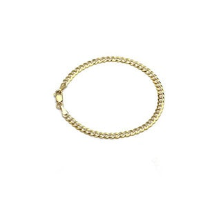 Decadence 14K Yellow Gold 180 Lite Cuban White Pave 8.5-inch Bracelet