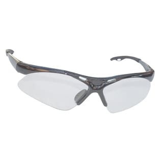 Diamondback Silver Frame Clear Lens Safety Glasses