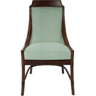 Portifino Rattan Mahogany Blue Cushion Occasional Chair