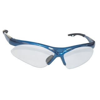 SAS Safety Diamondback Blue Frame and Clear Lens Safety Glasses